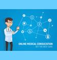 online medicine consultation vector image vector image