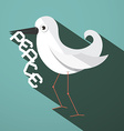 Peace Dove Retro Flat Design vector image vector image