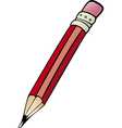 pencil clip art cartoon vector image vector image