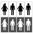 people silhouettes for signs vector image
