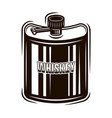 pocket hip flask for whiskey object vector image