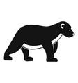 polar bear kid icon simple style vector image vector image