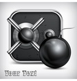 Safe icon bomb vector image