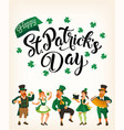 saint patrick s day template with funny dancing vector image vector image