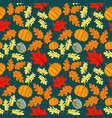 seamless pattern hand drawn floral background vector image