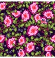 Seamless pattern of small bouquets pink flowers vector image vector image