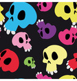 Seamless skull pattern vector image vector image