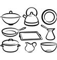 set of kitchen utensil vector image