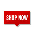 shop now red tag vector image vector image
