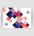 square leaflet business a4 print template vector image vector image