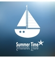 Summer time poster with ship vector image vector image