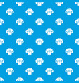 sweater pattern seamless blue vector image vector image