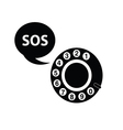 telephone sos black vector image