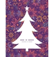 textured christmas stars Christmas tree silhouette vector image
