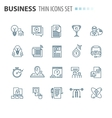 thin line flat isolated business icons set vector image