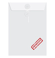 White long envelope with stamp important