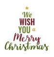 xmas poster with text vector image vector image