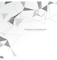 white abstract triangles background vector image