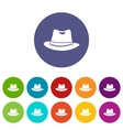 Hat set icons vector image