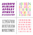 a set decorative fonts for lettering and design vector image vector image