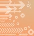 Abstract arrow on orange background vs vector image