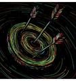 arrow hit the target vector image vector image
