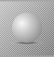 blank white round sphere or 3d ball vector image