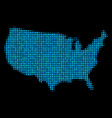 blue halftone usa map vector image