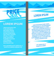 blue price text with long shadow on snowy vector image