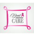 Breast cancer awareness concept frame EPS10 file vector image vector image