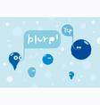 Bubbles conversation vector image vector image