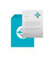 business letterhead envelope stationary branding vector image vector image