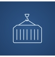 Cargo container line icon vector image vector image