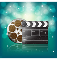 clapper and film vector image vector image