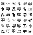 computer network icons set simple style vector image vector image