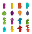 different cactuses icons doodle set vector image vector image