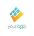 digital check mark logo vector image vector image