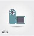 digital video camera icon in flat style isolated vector image vector image