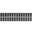 domino stones full set dominoes game bones vector image
