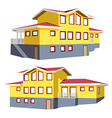 Family house in 2 perspective views vector image