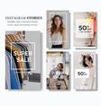 fashion sale social media story marketing vector image