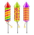 fireworks sky rockets vector image
