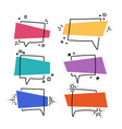flat banner set of promo multicolored vector image vector image
