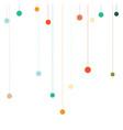 flat festive decoration circles on threads vector image