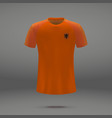 football kit of netherlands vector image