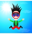 fun skydiver flying vector image vector image