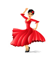 Girl dancing flamenco isolated on white vector image vector image
