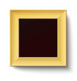 Golden square frame isolated vector image vector image