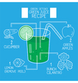 Green juice recipes great detoxifyblue tone vector image vector image