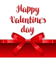 Happy Valentine day greeting card with shiny vector image